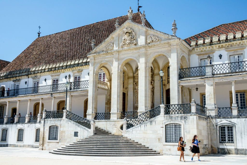 Slide 38 of 41: Established in 1290, this is a school with some serious history. University of Coimbra is one of the oldest continuously operating universities in the world, and has the architecture to back it up. In 2013, UNESCO named the school to its World Heritage list.