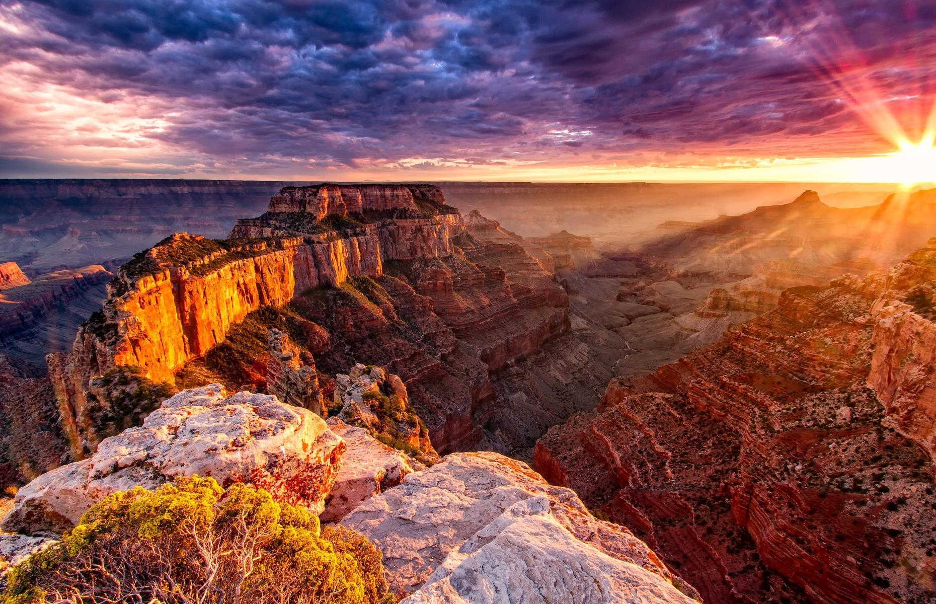 Slide 27 of 51: There's a good reason thata staggering 6.38 million people visited this cavernous multicolored canyon in Arizona in 2018. The gaping chasm is one of nature's truly epic sights. Carved out by the Colorado River over millions of years, the Grand Canyon measures 277 miles (446km) in length and reaches widths of up to 18 miles (29km) wide. With its cavernous size, the rust-colored canyon boasts spectacular views across the desert landscape. The South Rim is best known for its scenic lookouts. Check out these stunning images of the world's most incredible canyons.