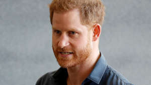 Prince Harry looking at the camera