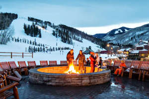 a group of people on a boat in the water: (Photo courtesy of the Park Hyatt Beaver Creek)
