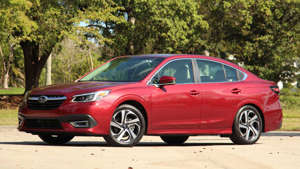 a car parked in a parking lot: 2020 Legacy XT: Review