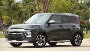 a car parked on the side of a road: 2020 Kia Soul X-Line: Review