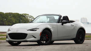 a car parked on the side of a road: 2019 Mazda MX-5 Miata Club: Driving Notes