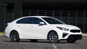 a car parked in a parking lot: 2019 Kia Forte EX Review