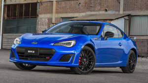 a blue car parked in front of a building: Subaru BRZ tS Exterior