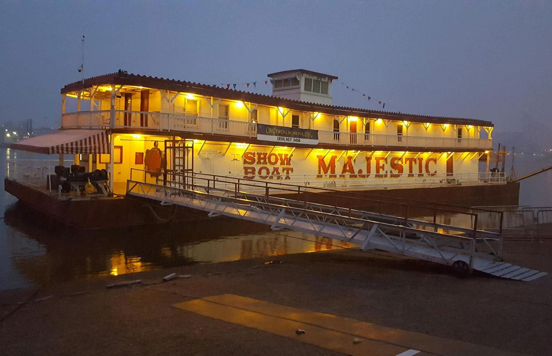Slide 25 of 31: The Majestic may be now be moored outside of Manchester, Ohiobut she has anchored herself in US history. Constructed in 1923, the Majestic was one of the last floating theater venues ever built in the US and she kept the show afloat for an impressive 90 years. However, the show might go on thanks to a renovation projectfrom the new owners.