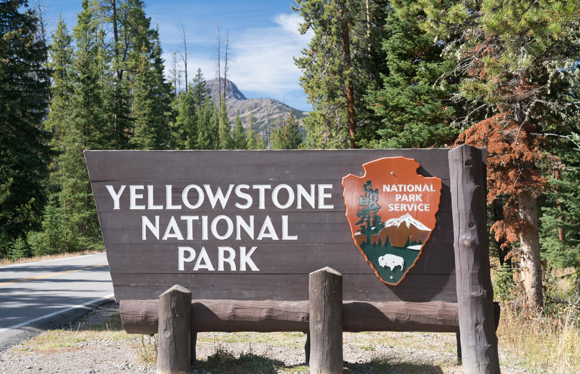 Slide 26 of 31: It may seem strange to have a sign on the list of historic landmarks, but the Northeast Entrance of Yellowstone National Park has a look so iconic it made the cut. The rustic, log cabin-like welcome sign for this gate has become synonymous with American national parks – and is a must-stop for pictures for the park's four-million-plus visitors every year.