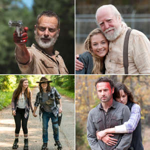 "Emily Kinney, Andrew Lincoln, Scott Wilson, Sarah Wayne Callies posing for a photo: Quite the journey. Over the duration of The Walking Dead, many stars have come and gone. While some have had shocking deaths — we're still not over Glenn or Carl's demises — other actors chose to leave the series. Andrew Lincoln, who portrayed hero police officer Rick Grimes on the AMC drama from its 2010 debut, announced that he would be leaving the show in 2018 during season 9, leaving fans shocked and curious about how he would exit the zombie series. ""I love this show. It means everything to me. I love the people that make this show. I promise not to cry, I've done enough crying on screen,"" he said at Comic-Con ahead of his final season. ""I suppose what I wanted to say is that my relationship with Mr. Grimes is far from over. And a sort of large part of me will always be a machete-wielding, Stetson-wearing, zombie-slaying sheriff deputy from London, England.""     A source shared with Us Weekly at the time that the actor really wanted to do more movies, as well as spend more time at home. After his final episode, however, it was revealed that he definitely isn't done with the Walking Dead universe. Instead, there would be multiple Walking Dead films around Rick Grimes, in which he would return. Of course, not everyone is so lucky. Chandler Riggs exited the show in 2018 after appearing in the first eight seasons as Rick's son Carl Grimes. It was not his choice to leave the show and didn't plan to, but the character was killed off after being bitten by a zombie while saving another member of the town. So, what other stars have exited the Walking Dead through the years? Scroll through the gallery to catch up with them all now."