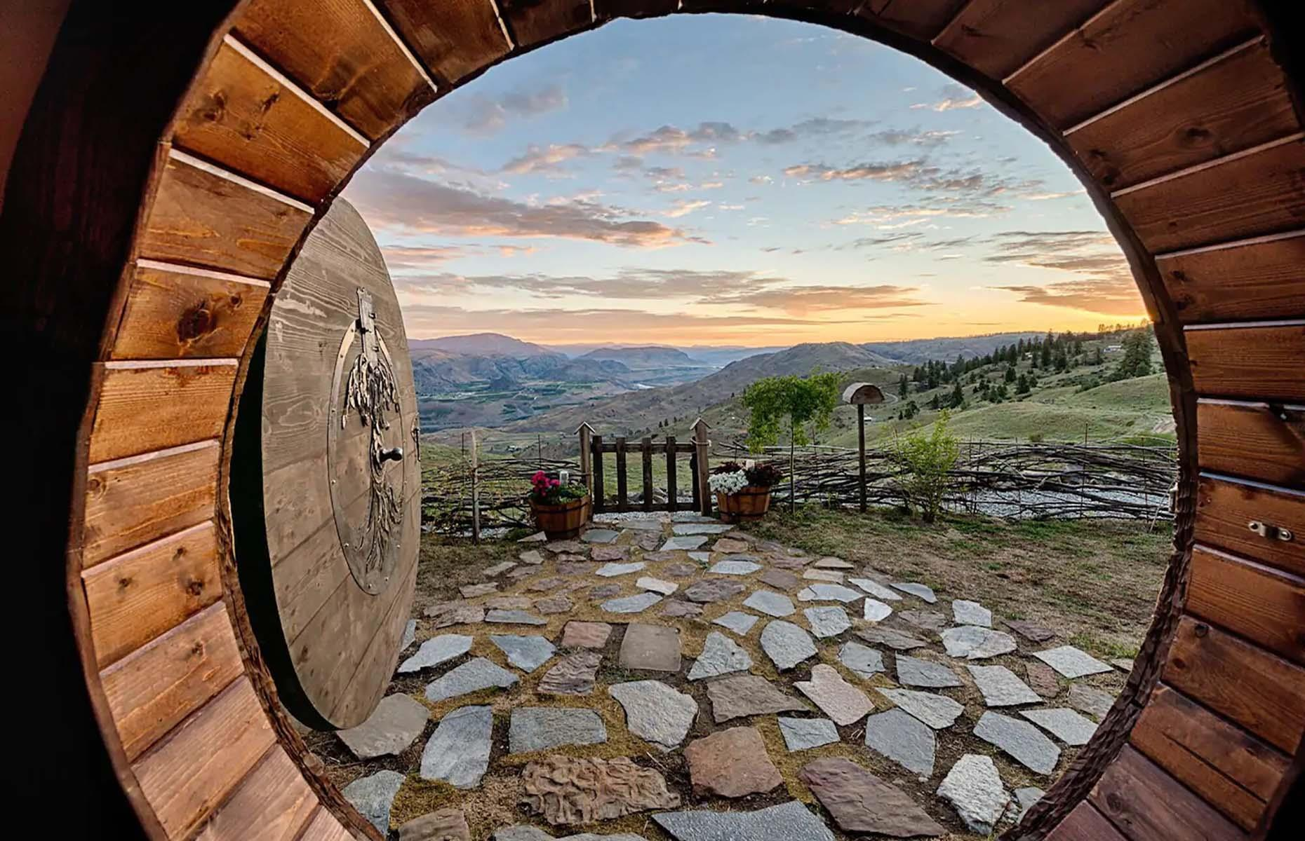 Slide 31 of 31: Nestled into a mountainside in central Washington state, this one-bedroom home has a round doorway that opens up to incredible mountain scenery where the only neighbors are local wildlife like deer, rabbits and grouse. The underground Lord of the Rings-inspired hobbit home sleeps two and has all the amenities for a comfortable stay, including a fireplace, a hot drink bar, fully-equipped bathroom and a cozy queen-sized bed. Loved this? Check out the most unusual place to stay in every state and DC