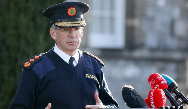 a man wearing a hat: Random drug testing of Garda members has been raised in recent days following reports made to the force's anti-corruption unit. Pic: Leah Farrell/RollingNews.ie