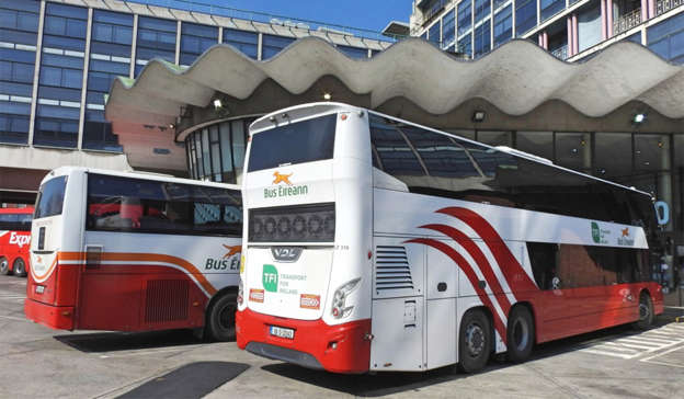a bus that is parked on the side of a building: Pic: Shutterstock