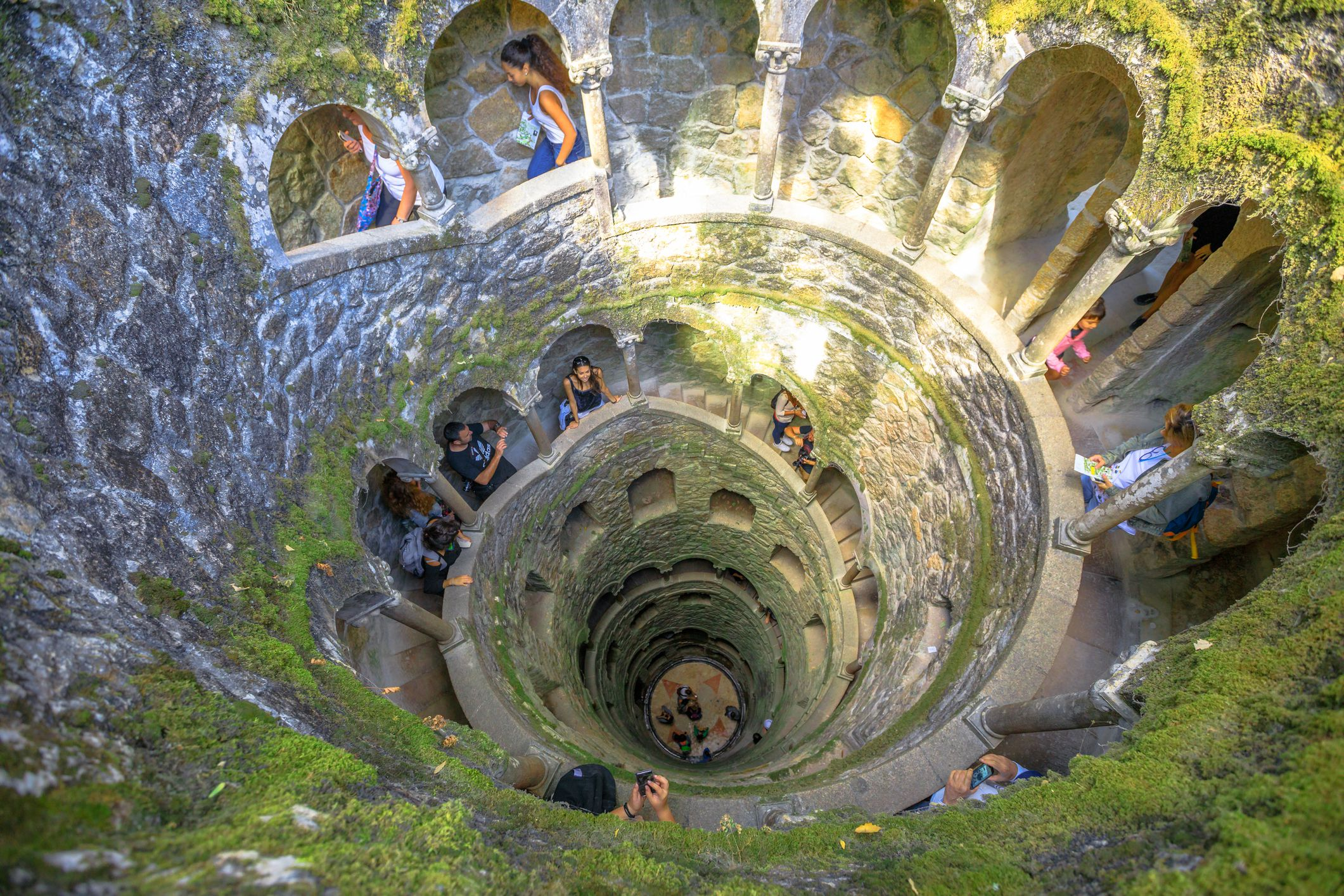 "Slide 36 of 52: This historical estate in Sintra, Portugal, connects to two Masonic ""initiation"" wells designed to symbolize death and rebirth."