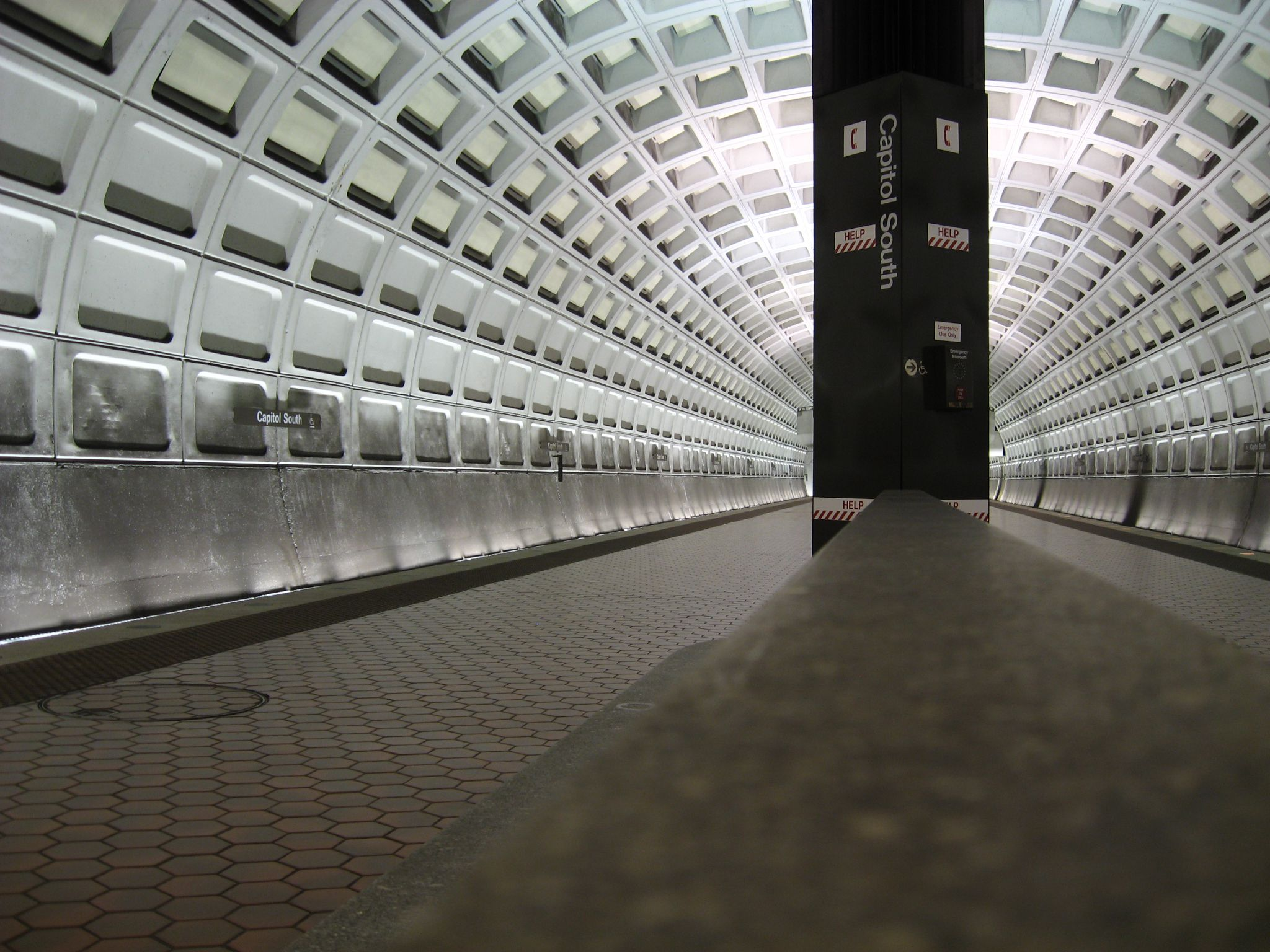 Slide 32 of 52: The Washington, D.C., subway station is less than five minutes from Pennsylvania Ave. and the U.S. Supreme Court. If you're lucky, you may hear a local singer taking advantage of the echoing acoustics.