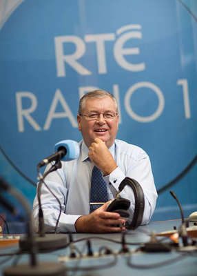 Joe Duffy holding a racket: Joe Duffy found himself arguing with an anti-vaxxer on Liveline this week in a discussion over whether the COVID-19 vaccine was a 'mark of the beast'. Pic: RTE