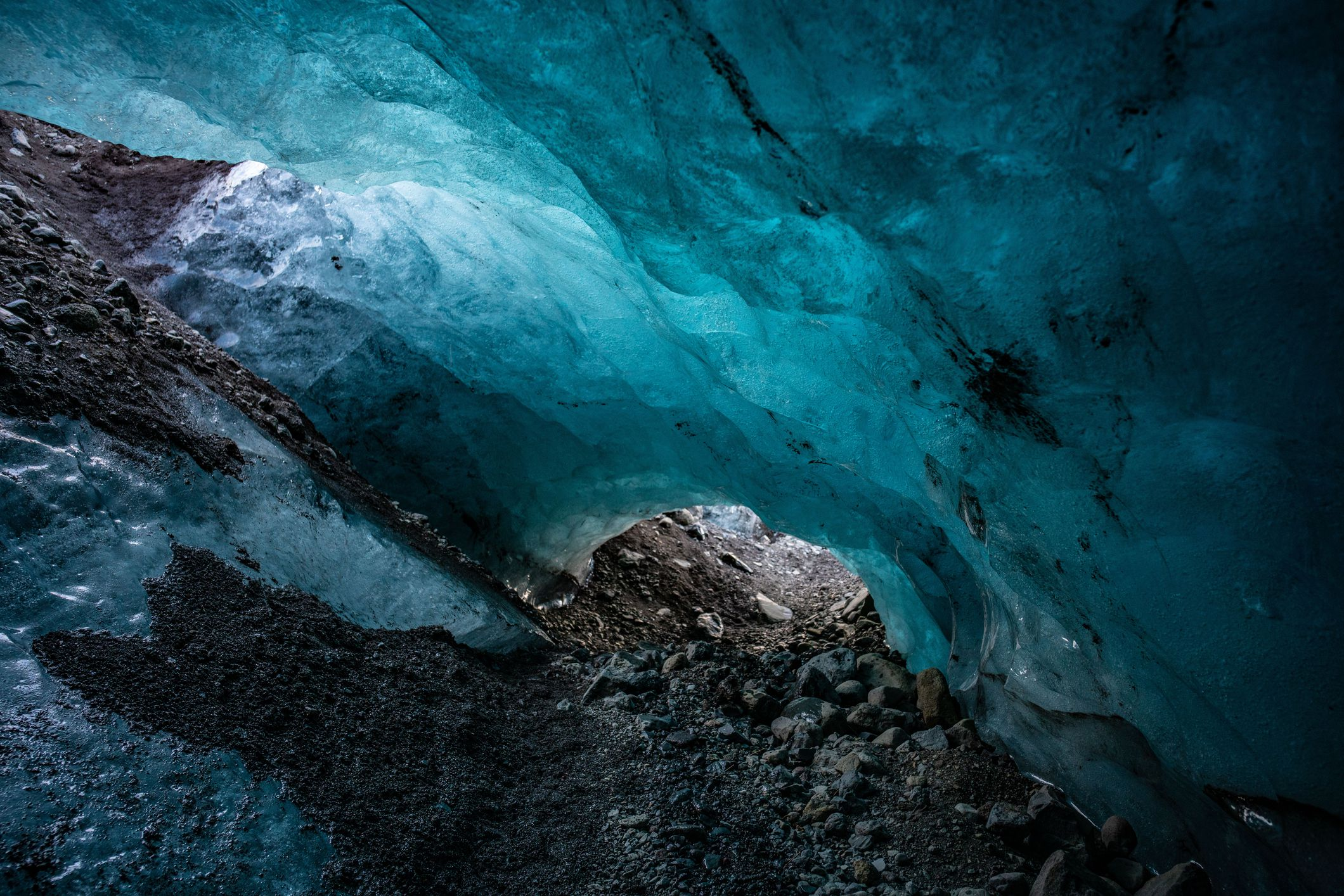 Slide 29 of 52: Iceland's Vatnajökull, the largest glacier in Europe, is known for its blue ice caves.