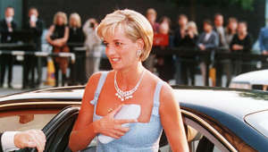 Diana, Princess of Wales sitting in a car
