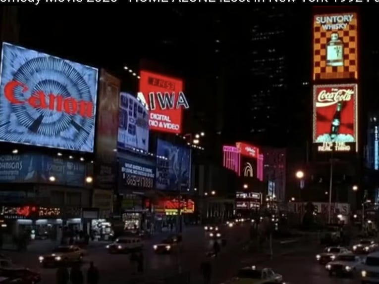 Slide 32 of 36: No movie set in New York would be complete without a stop at Time Square.