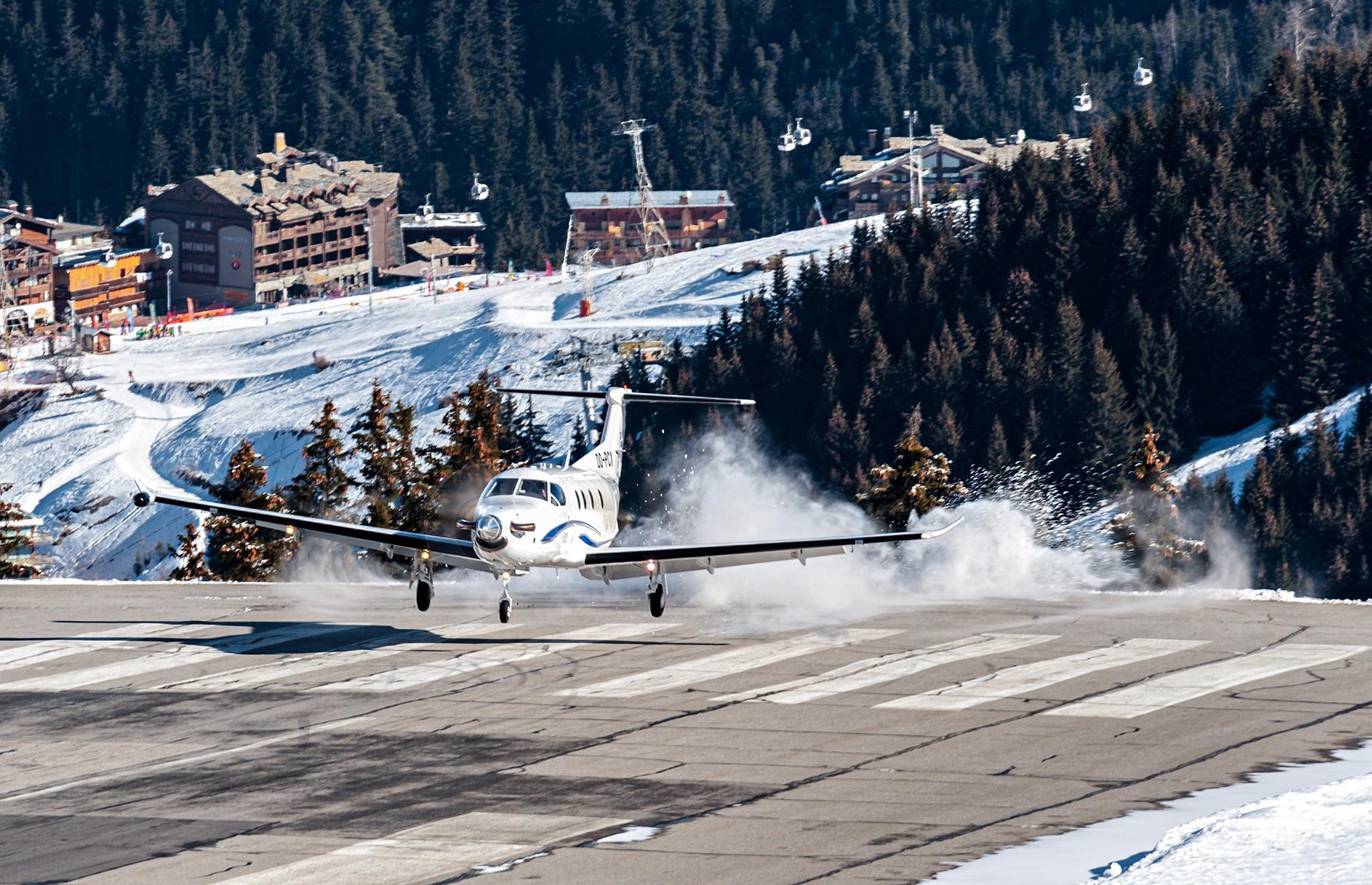 Slide 2 of 31: As if the towering Alps surrounding the French ski resort of Courchevel weren't enough of a challenge for pilots, this altiport (meaning a small airfield at a high altitude) has one of the world's shortest runways at 1,761 feet (537m) long. Not much room for error!