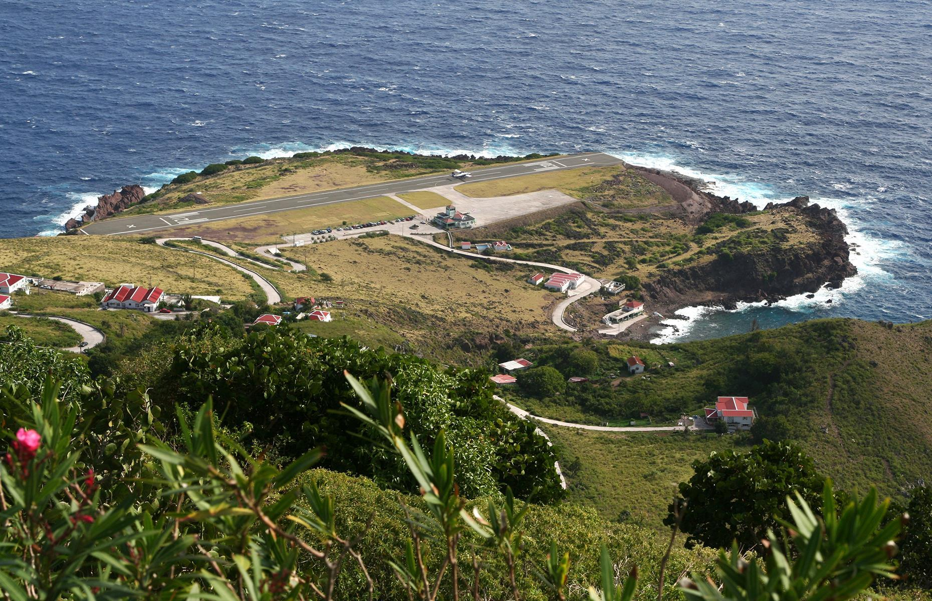 Slide 12 of 31: At only 1,312 feet (400m) long, the landing strip at Jauncho E. Yrausquin Airport is the shortest commercial runway in the world. Not only that, but with a steep drop into the sea at both ends, it makes for some nail-biting take-offs and landings.