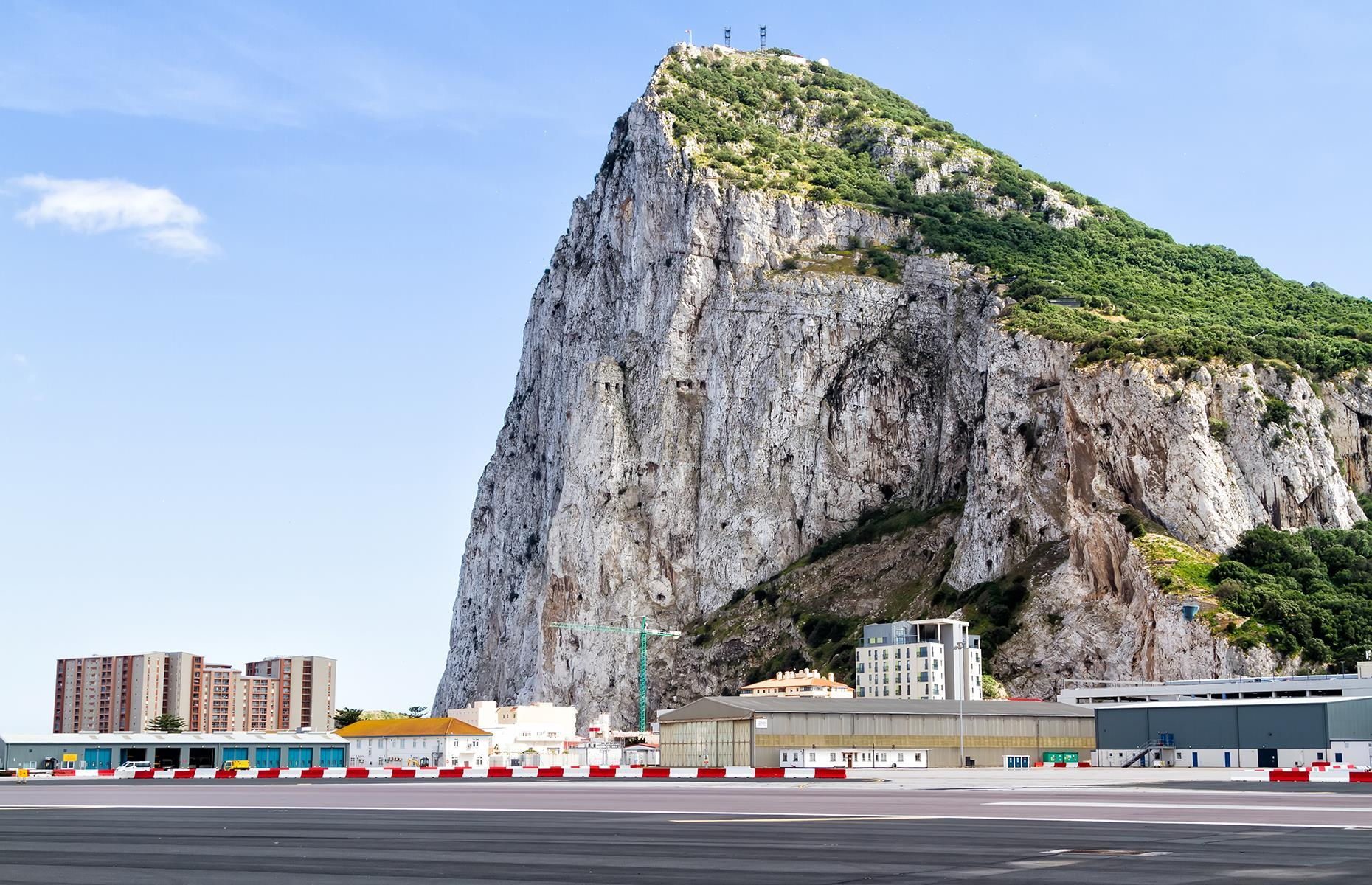 Slide 4 of 31: It's not so much the famous big Rock or the difficult high wind conditions that make flying into (or taking off from) Gibraltar a scary experience, although they don't help matters...