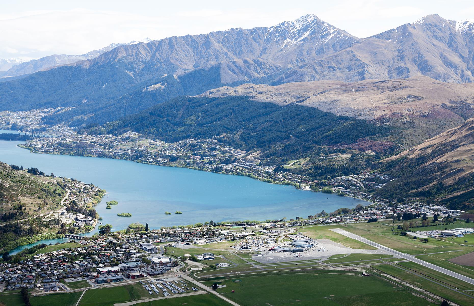 Slide 26 of 31: En route to Queenstown, planes have to negotiate the craggy mountain region and the frequent high winds plussideways rain. Thankfully specialprocedures have been introduced to ensure safe operations, which is lucky now that night-time flights have been introduced.