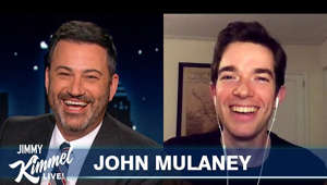 "Jimmy Kimmel, John Mulaney are posing for a picture: John talks about hosting SNL twice this year, people being mad at him for some of his jokes, having a file opened on him by the Secret Service, making climaxing noises for his animated show ""Big Mouth,"" and becoming a staff writer on Late Night with Seth Meyers  SUBSCRIBE to get the latest #Kimmel: http://bit.ly/JKLSubscribe  Watch Mean Tweets: http://bit.ly/KimmelMT10  Connect with Jimmy Kimmel Live Online:  Visit the Jimmy Kimmel Live WEBSITE: http://bit.ly/JKLWebsite Like Jimmy Kimmel on FACEBOOK: http://bit.ly/KimmelFB Like Jimmy Kimmel Live on FACEBOOK: http://bit.ly/JKLFacebook Follow @JimmyKimmel on TWITTER: http://bit.ly/KimmelTW Follow Jimmy Kimmel Live on TWITTER: http://bit.ly/JKLTwitter Follow Jimmy Kimmel Live on INSTAGRAM: http://bit.ly/JKLInstagram  About Jimmy Kimmel Live:  Jimmy Kimmel serves as host and executive producer of Emmy®-nominated ""Jimmy Kimmel Live!,"" ABC's late-night talk show. ""Jimmy Kimmel Live!"" is well known for its huge viral video successes, with over 11 billion views and more than 15 million subscribers on the show's YouTube channel. Some of Kimmel's most popular comedy bits include ""Celebrities Read Mean Tweets,"" ""Lie Witness News,"" ""Unnecessary Censorship,"" ""Halloween Candy YouTube Challenge,"" and music videos like ""I (Wanna) Channing All Over Your Tatum."""