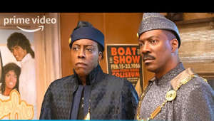 Arsenio Hall wearing a hat: Set in the lush and royal country of Zamunda, newly-crowned King Akeem (Eddie Murphy) and his trusted confidante Semmi(Arsenio Hall) embark on an all-new hilarious adventure that has them traversing the globe from their great African nation to the borough of Queens, New York – where it all began. Available March 5th on Prime Video. Starring: Eddie Murphy, Arsenio Hall, Jermaine Fowler, Leslie Jones, Tracy Morgan, KiKi Layne, Shari Headley, with Wesley Snipes and James Earl Jones. Also starring John Amos, Teyana Taylor, Vanessa Bell Calloway, Paul Bates, Nomzamo Mbatha, Bella Murphy Screenplay by: Kenya Barris and Barry W. Blaustein & David Sheffield Story by: Barry W. Blaustein & David Sheffield and Justin Kanew Directed by: Craig Brewer Based on characters created by: Eddie Murphy Produced by: Kevin Misher and Eddie Murphy Costumes by: Ruth E. Carter.  » SUBSCRIBE: http://bit.ly/PrimeVideoSubscribe