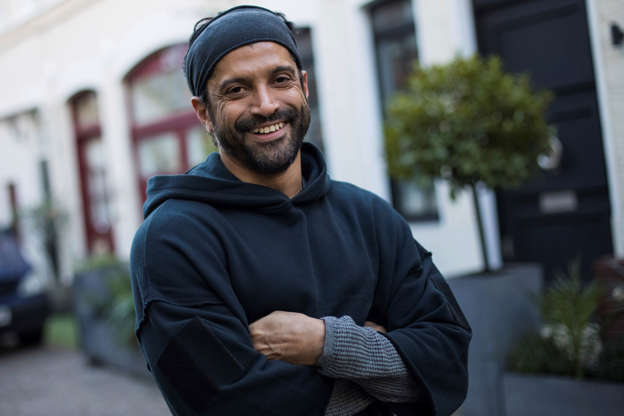 Actor and UN He for She Ambassador Farhan Akhtar poses for a portrait photograph in London, Thursday, Feb 7, 2019. (Photo by Vianney Le Caer/Invision/AP)
