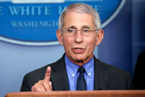 Anthony S. Fauci wearing a suit and tie: Over the last several months, health experts have been warning that the COVID-19 pandemic could spiral out of control during the winter months. On Tuesday, their worst predictions came true when the US reported its highest daily number of COVID-19 deaths with more than 4,320 fatalities attributed to the virus. At the Futures Forum on Preparedness hosted by Schmidt Futures and Social Science Research Council, Dr. Anthony Fauci, the nation's top infectious disease expert and the director of the National Institute of Allergy and Infectious Diseases discussed our current predicament with former first daughter Barbara Bush. He revealed the handful of things that are actually effective in preventing the spread of the deadly virus. Read on—and to ensure your health and the health of others, don't miss these Sure Signs You've Already Had Coronavirus.
