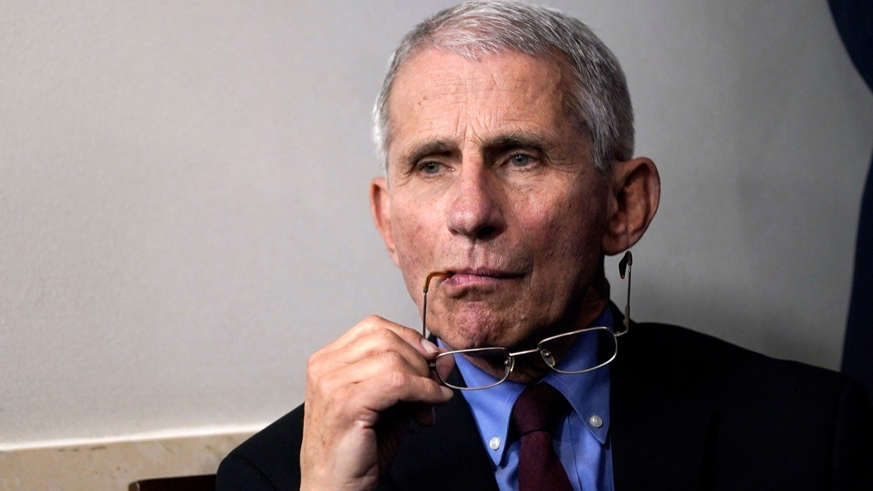 Anthony S. Fauci wearing a neck tie: Doctor Anthony Fauci