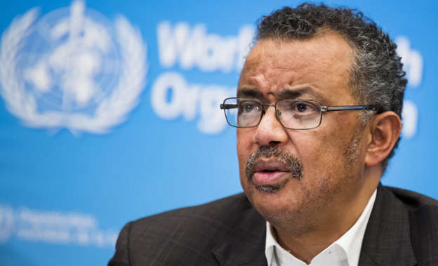 Tedros Adhanom Ghebreyesus wearing glasses and a suit and tie: Although the variant hadn't been on the radar in a big way after it was found, the WHO has since confirmed that it is now a variant of interest (VOI). Pic: EPA/JEAN-CHRISTOPHE BOTT