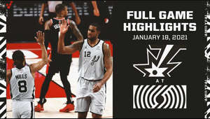 Highlights from the Spurs' electrifying win in Portland against the Blazers in the first of a two-game road trip.