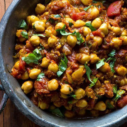 Slide 5 of 23: Made with convenient canned beans, this quick and healthy Indian recipe is an authentic chickpea curry that you can make in minutes. If you want an additional vegetable, stir in some roasted cauliflower florets. Serve with brown basmati rice or warm naan.  View recipe