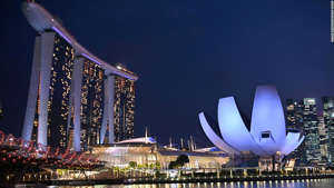 Enjoy the tradition of the hawker stalls paired with the modern architecture in Singapore.