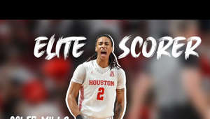 a person holding a sign: Freshman Basketball Highlights for University of Houston  combo guard Caleb Mills for the  2019-2020 season  Mills' IG: (@millinakhis) https://www.instagram.com/millinakhis/ Mills' twitter: https://twitter.com/calebmills_3  840's IG: https://www.instagram.com/840sports/  Mills is a combo guard with unparalleled scoring ability, a complete scorer with strengths in all aspects of scoring. one of the best guards in college along with Cole Anthony, RJ Hampton,  Nico Mannion, Tyrell Terry, Markus Howard, Jahmius Ramsey to name a few.  I do not own rights to any of the content. all rights belong to UHathletics, Rob, Espn, Cbs, Foxsports and all other respective owners   For more UH content follow the check out the UH youtube https://www.youtube.com/user/UHAthletics
