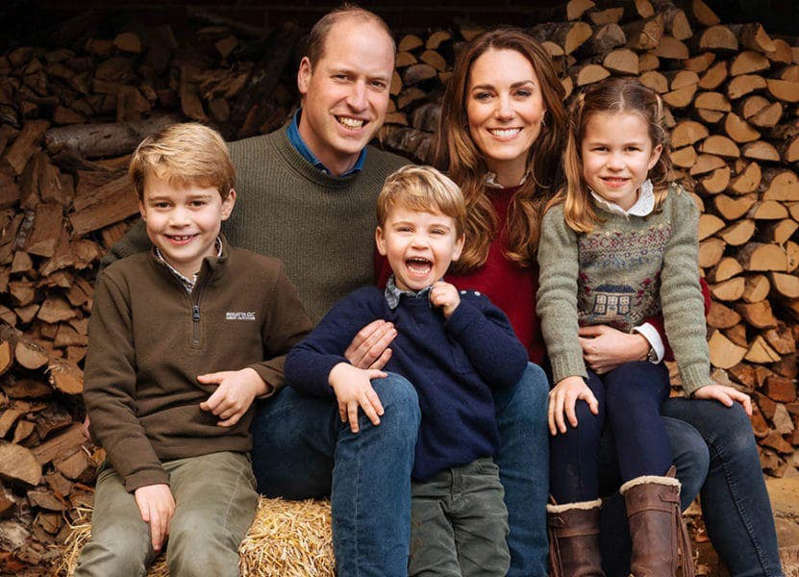 Prince William, Duke of Cambridge, Catherine, Duchess of Cambridge sitting posing for the camera: Kate And William won't return to Kensington Palace after their Christmas break. Pic: Matt Porteous