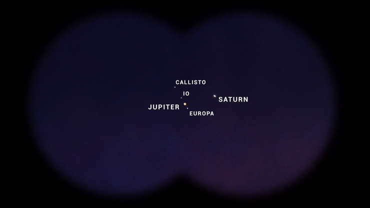 "Slide 8 of 11:            On Dec. 21, Jupiter and Saturn appeared so close together in the night sky that they looked like one star. This rare phenomenon, called the ""Great Conjunction,"" occurs every 20 years but the two gas giants haven't been this close to each other since July 16, 1623, when the famous astronomer Galileo Galilei was alive. The last night sky where Saturn and Jupiter appeared so close together, was in 1223."