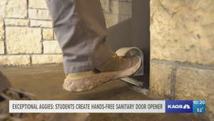 Exceptional Aggies: Students create hands-free sanitary door opener