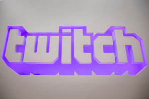 a close up of a clock: The twitch logo is seen at the offices of Twitch Interactive Inc, a social video platform and gaming community owned by Amazon, in San Francisco, California, U.S., March 6, 2017. REUTERS/Elijah Nouvelage