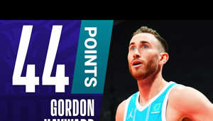 Gordon Hayward holding a racket: Gordon Hayward scores a career-high 44 points in the Hornets' win.  Subscribe to the NBA: https://on.nba.com/2JX5gSN 