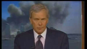 Tom Brokaw wearing a suit and tie: From Tuesday September 11th, 2001, NBC News Live Coverage of Attack on America  with Tom Brokaw  - complete national coverage runs from 1:00 P.M E.D.T - 6:30 P.M E.D.T  - In memory of the 2,974 victims killed that day