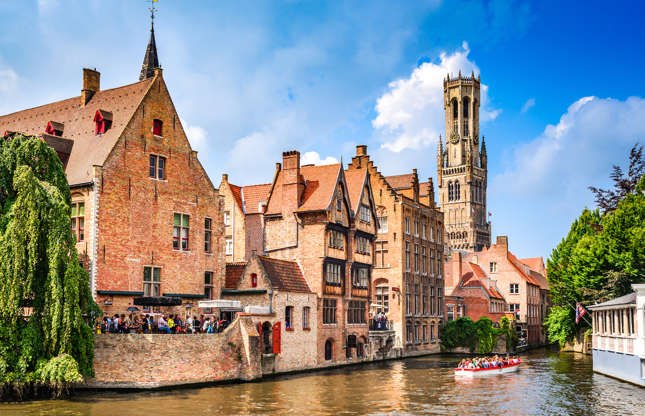 Slide 8 of 21: If Venice is too touristy for your tastes, Bruges is an excellent alternative. Bruges offers its own collection of small romantic bridges and secret gardens to explore along its canals, and has all the medieval charm of its Italian cousin.