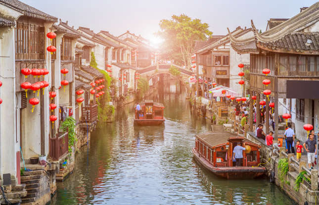 Slide 9 of 21: China's Grand Canal, which runs from Beijing and passes through Suzhou, is the world's longest and oldest human-made canal and appears on UNESCO's World Heritage List. Some parts of the canal are no longer used, but visitors can still navigate and tour over 80 kilometres (50 miles) of the waterway.