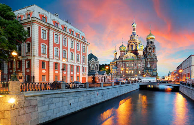 Slide 17 of 21: Saint Petersburg was built on the marshes of the Neva River delta and comprises approximately 300 kilometres (185 miles) of canals. Several monuments, such as the Winter Palace and Peter and Paul Fortress, sit canal side, so a boat trip is a must when visiting this city.