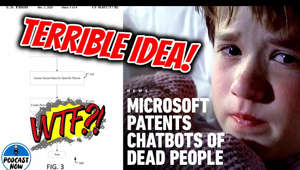 Microsoft has filed a new patent that is absolutely terrifying. Let's break it down and discuss why this can not happen! Let me know what you think and make sure to subscribe to the channel for more content!! #Microsoft #MicrosoftAI   Follow Us On Twitch - https://www.twitch.tv/podcastnow  Subscribe to my second channel!! -https://www.youtube.com/channel/UCWL_77_RksghvimKPJCb3Xw  Join Our Discord Server! - https://discord.gg/C2De68m  Follow me on Twitter - https://twitter.com/PodcastNow15
