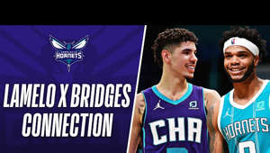 Charles Boozer holding a sign: 🔥 LaMelo 🤝 Bridges 🔥  Relive the BEST moments from LaMelo Ball and Miles Bridges connection from the season so far!  Subscribe to the NBA: https://on.nba.com/2JX5gSN  