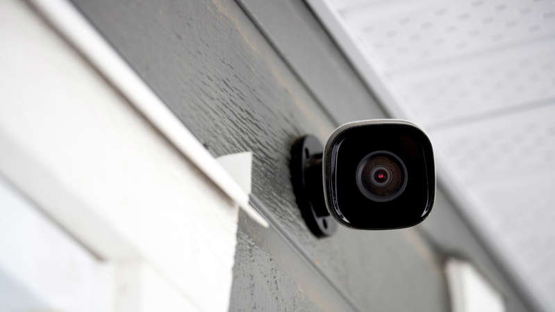 a close up of a mirror posing for the camera: Increased CCTV is also part of the government's plan to make streets safer
