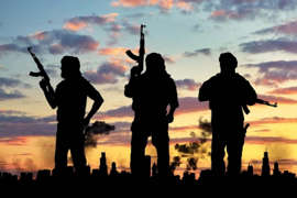 a group of people standing in front of a sunset: India has kept terrorism under control: Adil Rasheed(photo:India Narrative)