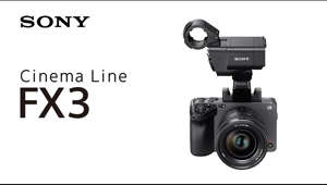 """New Cinematic Freedom""  Watch the feature explanation of the FX3, compact full-frame camera, combining mobility and operability for solo shooting.  High frame rate shooting at up to 120fps at 4K*    *With 10% image crop  #CinemaLineFX3 #SonyAlpha Subscribe: http://bit.ly/SonyCameraChannel  About Sony: At Sony, our mission is to be a company that inspires and fulfills your curiosity. Our unlimited passion for technology, content and services, and relentless pursuit of innovation, drives us to deliver ground-breaking new excitement and entertainment in ways that only Sony can, creating unique new cultures and experiences. Everything we do is to move you emotionally.  Connect with Sony's Digital Imaging Online. Visit the Sony's Digital Imaging WEBSITE: http://www.sony.net/cinema-line  Sony Camera Channel https://www.youtube.com/c/imagingbysony"