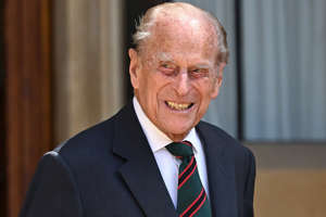 Prince Philip, Duke of Edinburgh wearing a suit and tie: Max Mumby/Getty Prince Philip